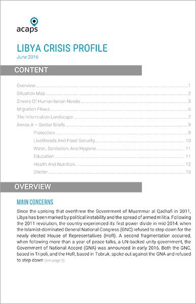 Libya Crisis Profile June 2016